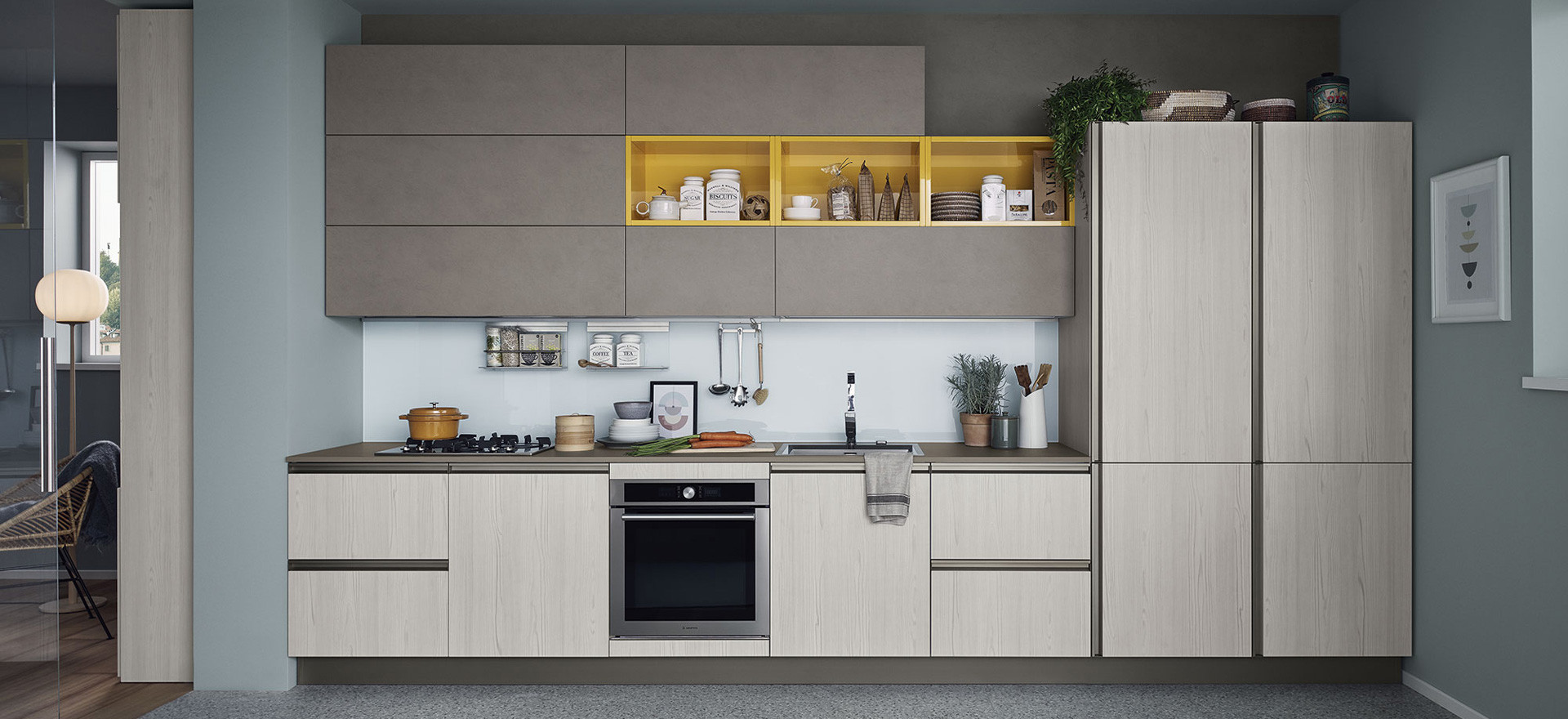 Penisola Cucina In Muratura furniture: kitchens and living rooms | veneta cucine